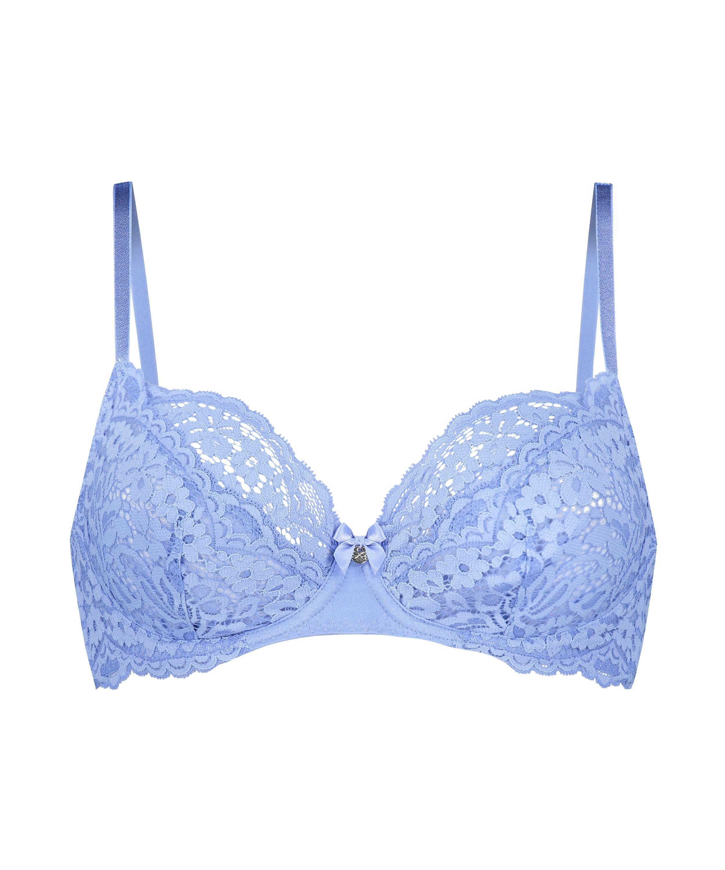 Ikke-formstøbt bøjle-bh Rose, blå, main