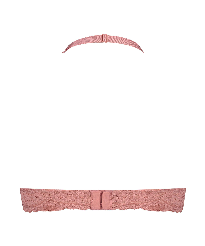Rose bralette med halterneck, pink, main