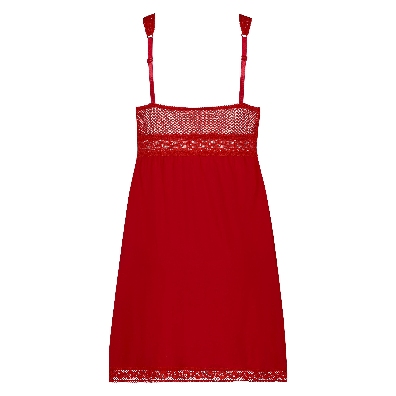 Graphic Lace natkjole, rød, main