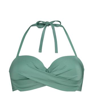 Formstøbt push-up bøjle-bikinitop SoCal, grøn