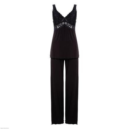 Pyjamaset Modal lace, sort