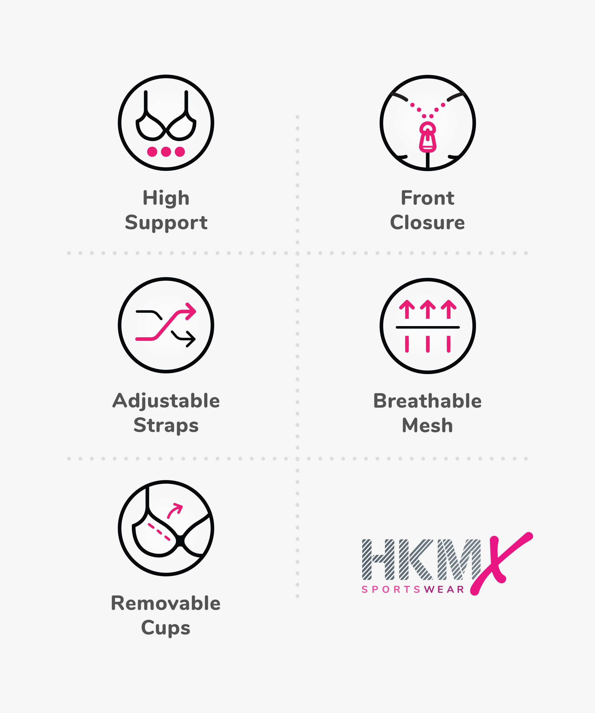 HKMX Sport bh The Pro Level 3, Grå, main