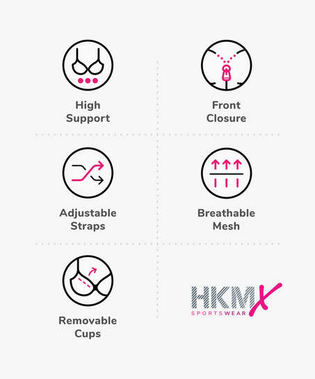 HKMX Sport bh The Pro Level 3, Grå