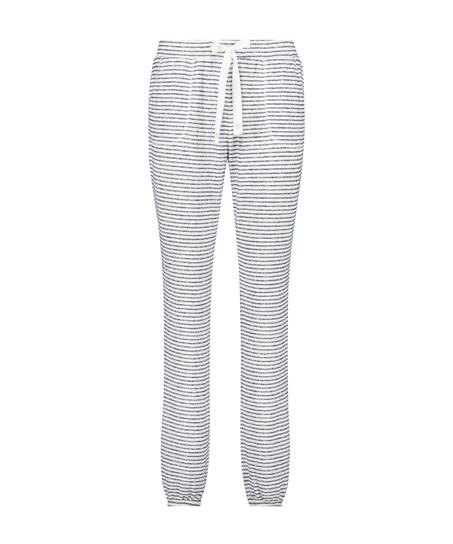 Pyjamasbukser Brushed Stripe, blå