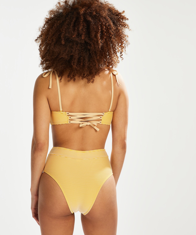 Formstøbt bandeau-bikinitop Carmel, gul, main