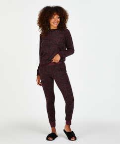 Micro Fleece leggings, rød