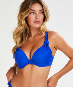 Luxe formstøbt bikinitop med bøjle Størrelse E +, blå
