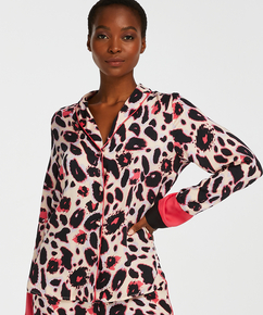 Pyjamasjakke lange ærmer Duckie, pink