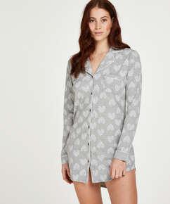Pyjamastop Heart, Grå