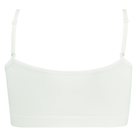 Sømløs strappytop, hvid