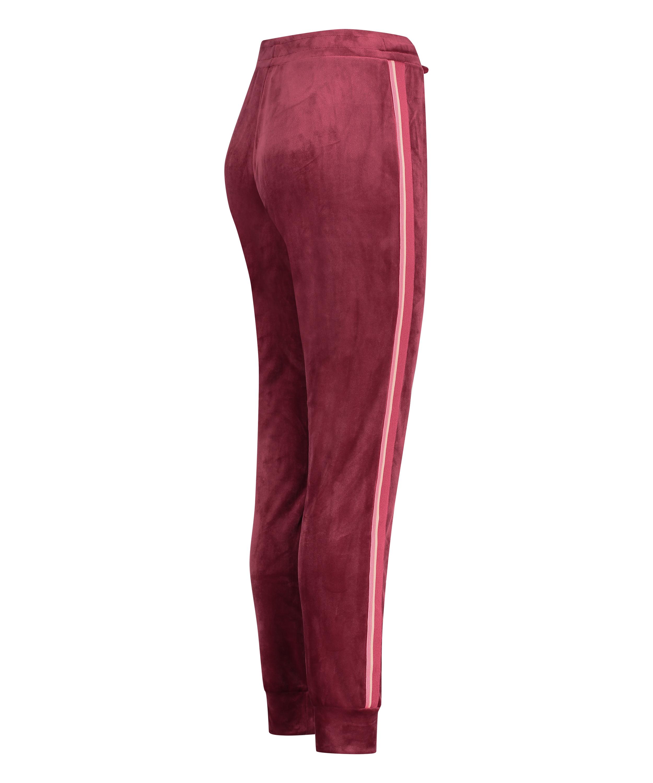 Lange Joggingbukser Velour, rød, main