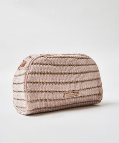 Makeuptaske Chenille, pink