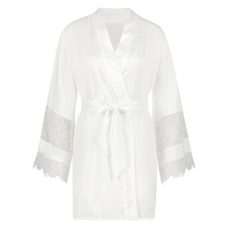 Kimono satin Bridal, hvid