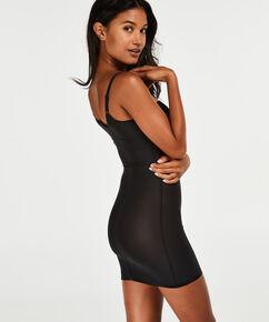 Opstrammende kjole med bølget kant - Level 3, sort