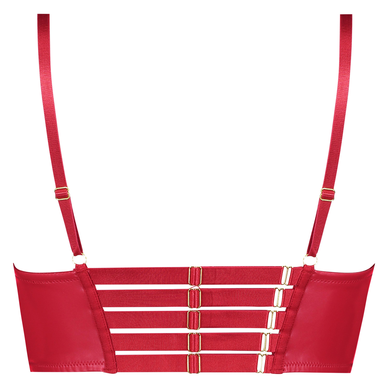 Kennedy formstøbt longline pushup-bøjle-bh, rød, main