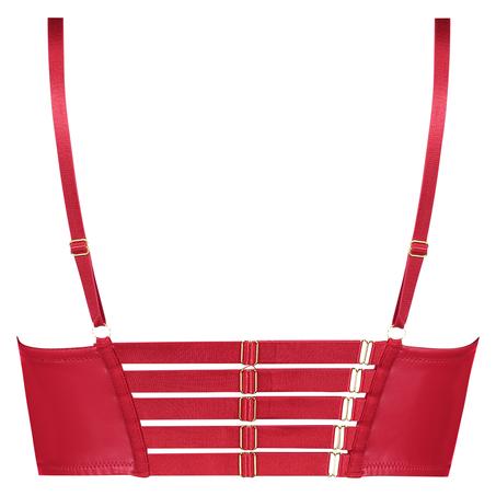 Kennedy formstøbt longline pushup-bøjle-bh, rød
