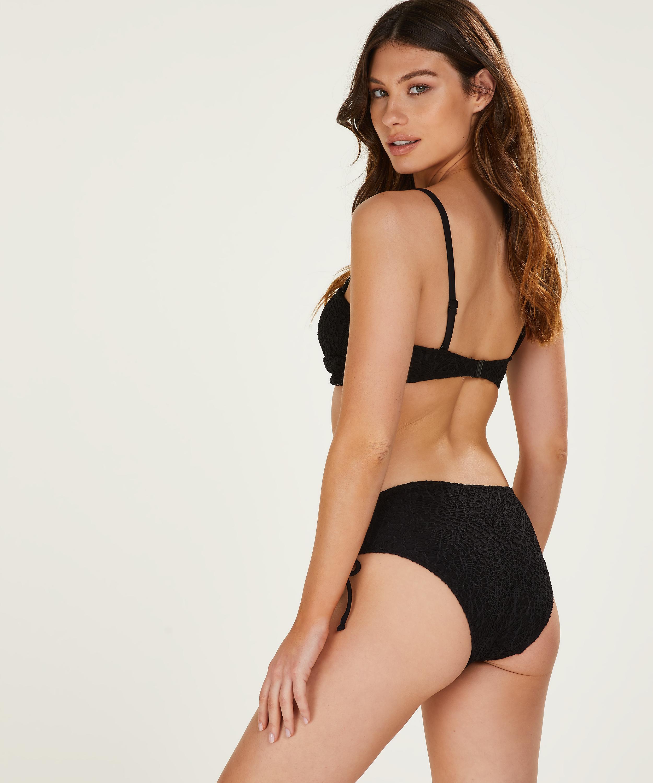 Formstøbt bandeau-bikinitop Crochet, sort, main