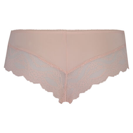 Ruched Lacey Micro Contrast brasiliansk trusse, pink