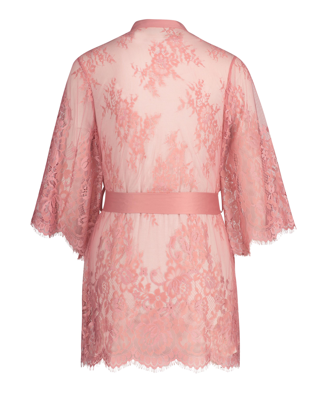 Lace Isabelle kimono, pink, main