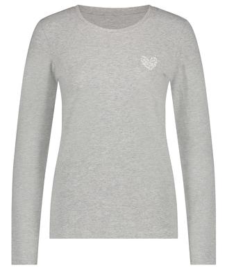 Pyjamastop korte ærmer Jersey Hearts, Grå