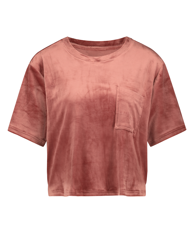 Top fløjl Pocket, pink, main