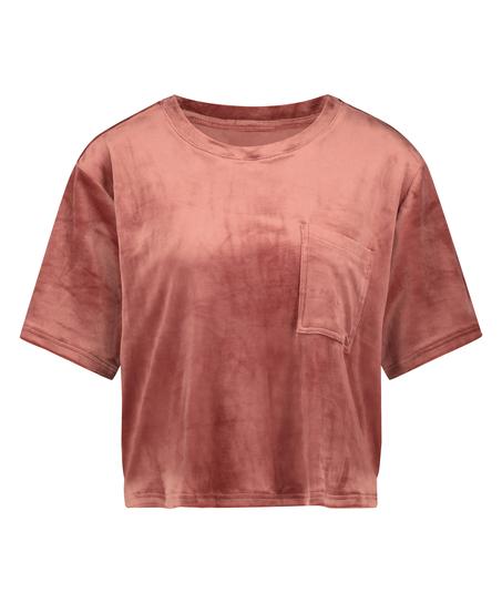 Top fløjl Pocket, pink