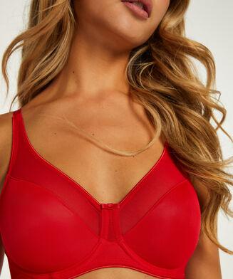 Nina ikke-formstøbt minimizer-bøjle-bh, rød