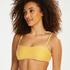 Formstøbt bandeau-bikinitop Carmel, gul