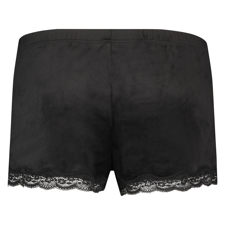 Shorts velour Lace, sort, main