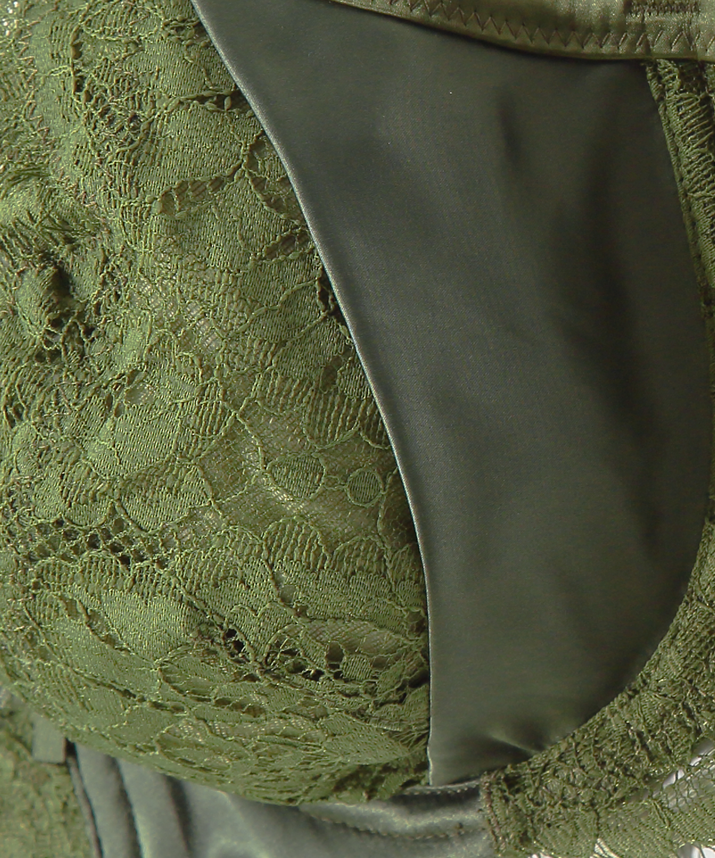 Ikke-formstøbt bøjle-bh Hannako, grøn, main
