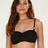 Formstøbt bandeau-bikinitop Crochet, sort