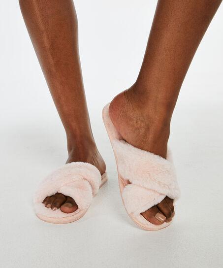 Cross Straps Indoor Sandal, pink