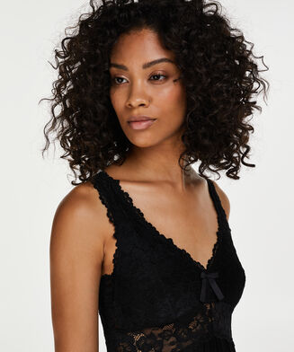 Modal Lace natkjole, sort