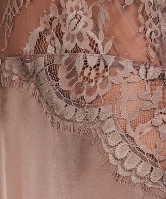 Silke natkjole, pink
