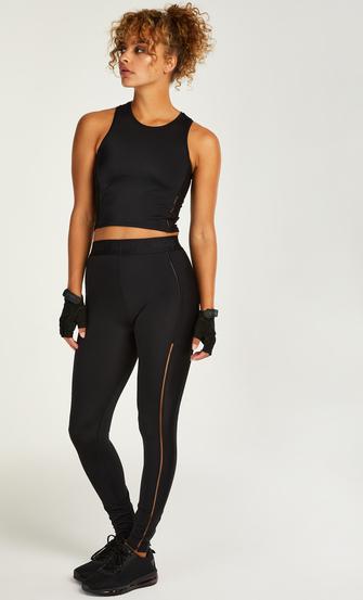 HKMX sportlegging med høj talje Zenna, sort
