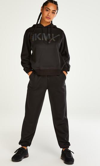 HKMX velourjoggingbukser med høj talje, sort