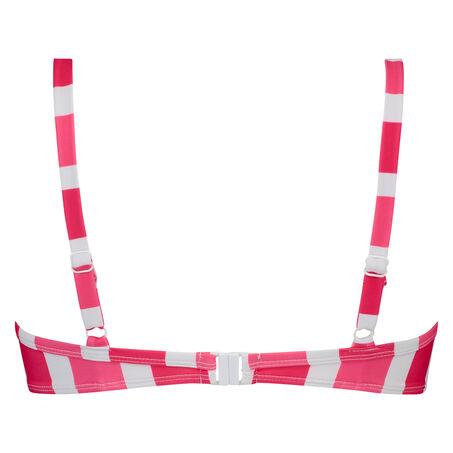 Candy Stripes formstøbt bøjle-bikinitop, pink