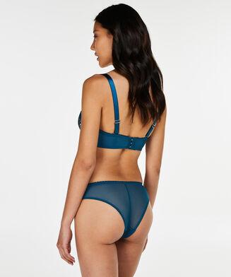 Latrice formstøbt stropløs bøjle-bh, blå