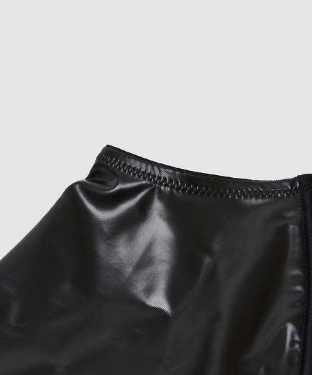 Private hofteholder læder-look, sort
