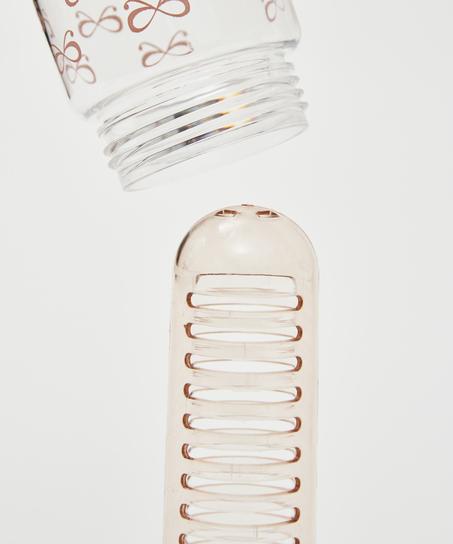 Patchwork drikkeflaske med infuser, pink