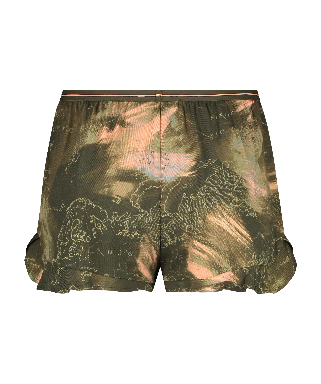 Pyjamasshorts, grøn, main