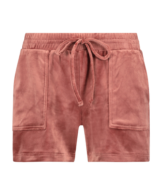 Fløjlsshorts med lomme, pink
