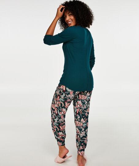 Loose fit pyjamasbukser, grøn