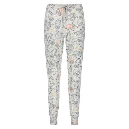 Loose fit pyjamasbukser, Grå
