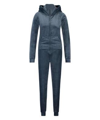 Onesie-jumpsuit Velour, blå