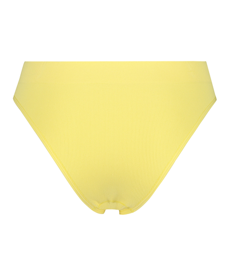 Brasiliansk trusse med højt snit Bae, gul