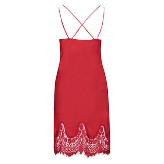 Lace Satin natkjole, rød