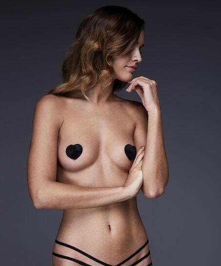 Fake Fur Private brystvorteskjulere, sort