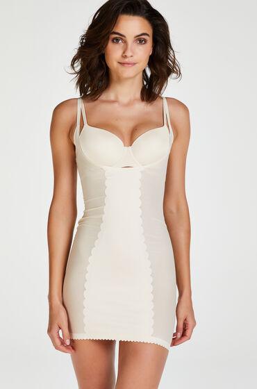 Hunkemöller Opstrammende kjole i scuba-stof - Level 3 Beige