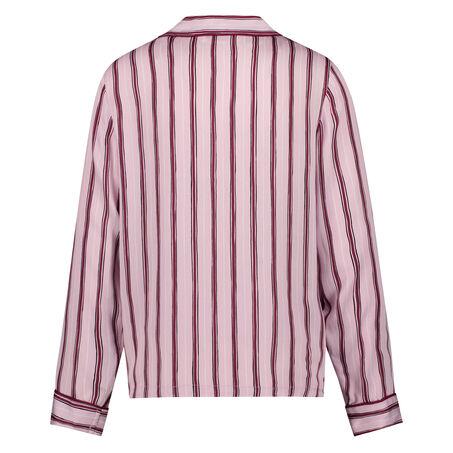 Woven Striped pyjamastop, pink